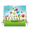 April spring photo backdrop happy Easter eggs background for photography studio home party decor photo background vinyl