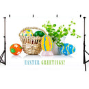 Happy easter backdrop Easter egg spring banner background for photography studio home party decor photo background video vinyl