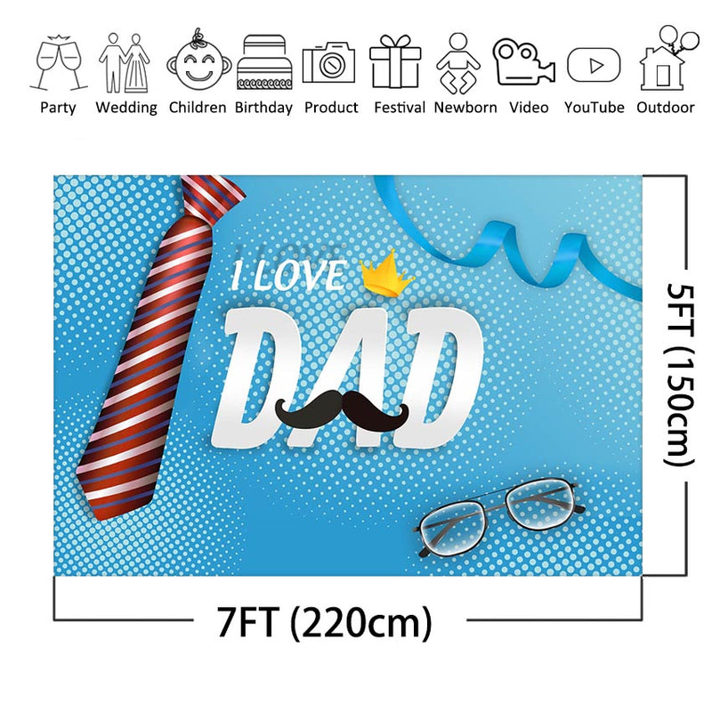 Father's Day Photography Backdrop Thanks Father Party Decoration Photo Background Celebration Love Dad Party Supplies