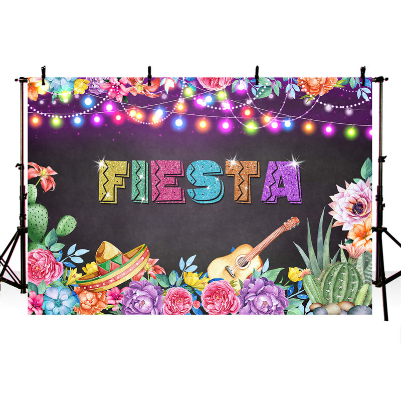 Fiesta Backdrop for photography Colorful Glitter background for photo studio Mexican party Photographic Studio