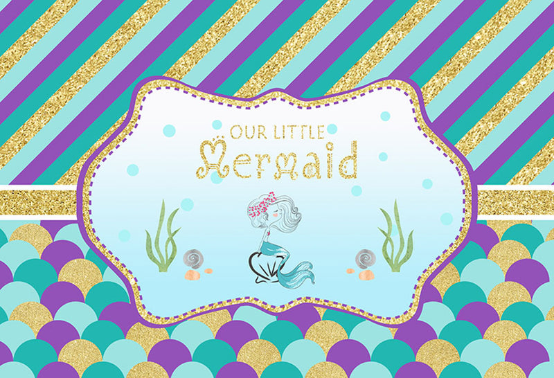 little mermaid photo backdrops Aquarium photo booth props ocean blue photography backdrop for kids background for photo scales