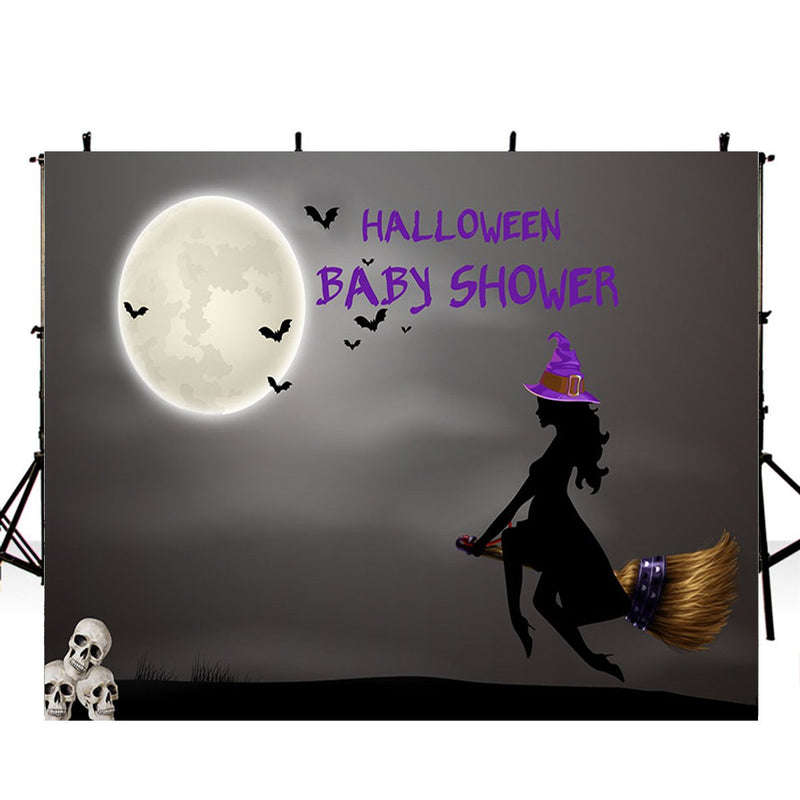 halloween photo booth backdrop night moon backdrop for picture 8x6 photography background for baby shower photo props scary