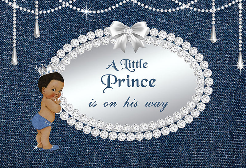 7x5ft Happy birthday photo backdrops a little prince photo booth props for boys navy blue photo backdrop baby shower background for photo happy birthday