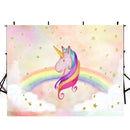 Happy birthday photo backdrops unicorn party customized birthday photo booth props for baby birthday photo backdrop kids background for photo happy birthday
