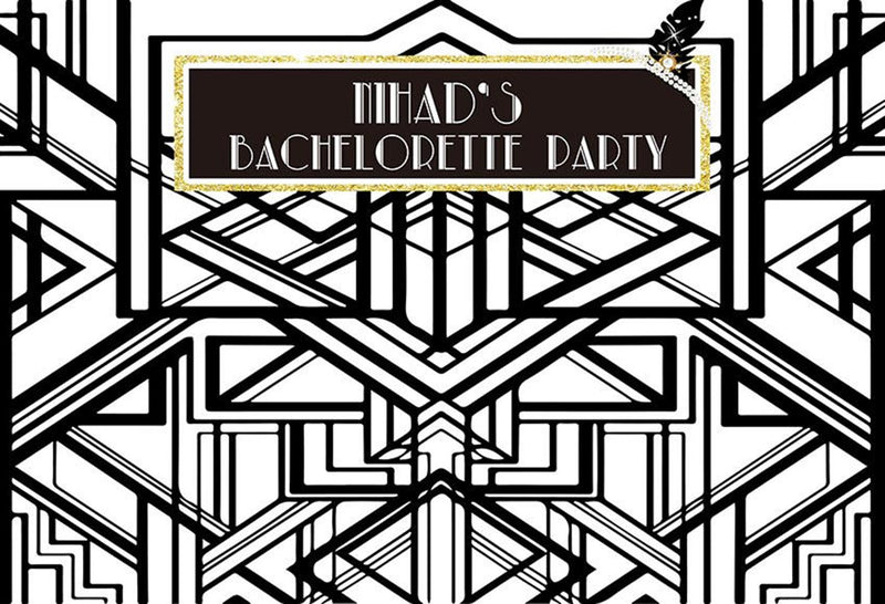 black and white photo backdrops Bachelorette party customized birthday photo booth props for woman birthday photo backdrop background for photo happy birthday