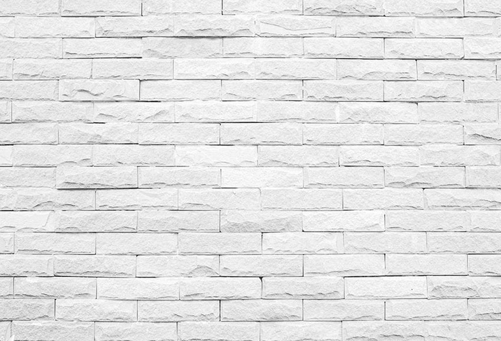 Sensfun Vintage Brick Wall Photo Backdrops 7ft Photography Backdrop Ivory White Brick Wall Wood Floor Photo Background Stone Wall Photo Booth Props Dreamybackdrop