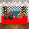 Child Photography background Vinyl Blaze Monsters Machine Truck Car Race Traffic Light Backdrop Decor Backdrop Photo Studio