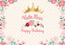 customized Happy birthday photo backdrops birthday banner photo booth props for boys birthday photo backdrop baby shower pink flowers background for photo happy birthday