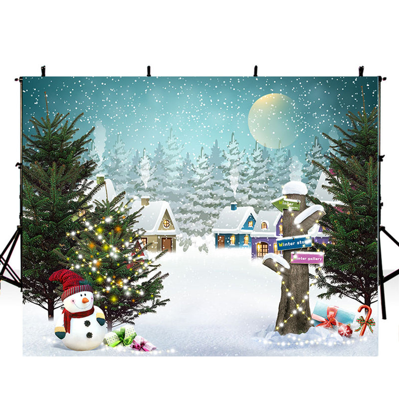 merry christmas photo backdrop snowflake photography background winter snowman photo booth props Merry Xmas backdrops gifts for kids