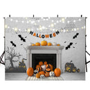 halloween photo backdrop 10x8 black bats photo backdrop vinyl white wall backdrop for picture Pumpkin Lantern photography background for kids photo props clearance