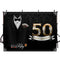Mens 50th Birthday Photography Backdrop Black Gentleman Birthday Party Banner Background Necktie Playing Card Magic Decoration for Photo Studio