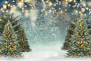 Bokeh Shine Photography Backdrops Glitter Christmas Tree Background Backdrops Snow Forest Winter Props Xmas Vinyl photo Backdrop