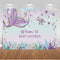 Summer Little Mermaid Party Photography Backdrop Ariel Dazzles Girls Birthday Banner Background Baby Shower Decoration for Photo Studio