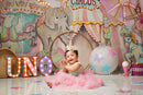 Circus Party Photography Backdrop Amusement Park Girls 1st Birthday Banner Background Baby Shower Decoration for Photo Studio