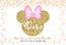 Pink minnie mouse backdrop gold glitter 1st birthday party background for photo shoot one birthday party decoration personalized