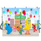 Sesame Street Backdrop-photography backdrops Sesame Street-backdrops Sesame Workshop-backdrop for pictures Children`s Television-photo booth props big bird-photo backdrop Cookie Monster-photo booth props TV program-Cookie Background