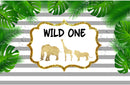 7ft wild one photo backdrop animals golden photo booth props stripes streaks photography background tropical theme vinyl backdrops for picture summer for kids background child party