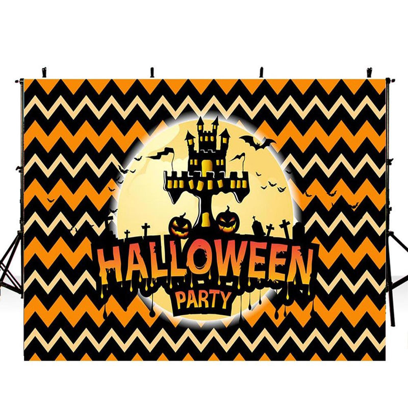 halloween banner photo booth backdrop for child backdrop for picture Pumpkin Lantern photography background for kids photo props
