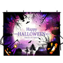8ft halloween party photo booth backdrop red black banner backdrop for picture Pumpkin Lantern photography background ghost photo props for kids