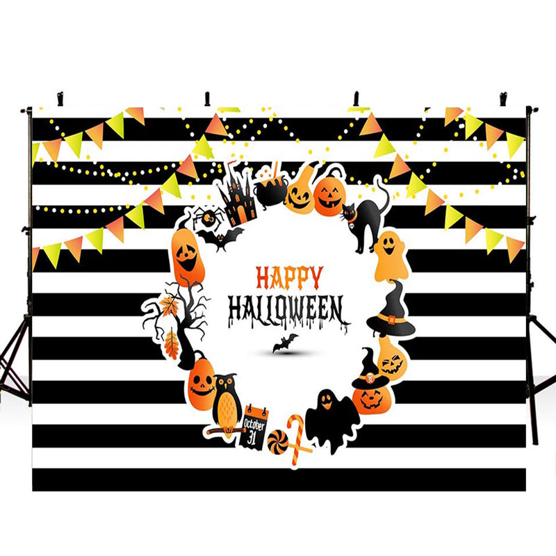 halloween graveyard photo booth backdrop 6ft ghost black backdrop for picture night moon photography background tombstone bats photo props scary