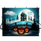 trick or treat backdrops halloween 10ft party photo booth backdrop black white streaks 7ft backdrop for picture Pumpkin Lantern photography background for child photo props