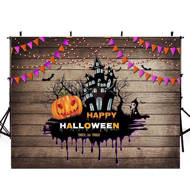 12ft halloween graveyard photo booth backdrop wood floor backdrop for picture night moon photography background tombstone bats photo props scary