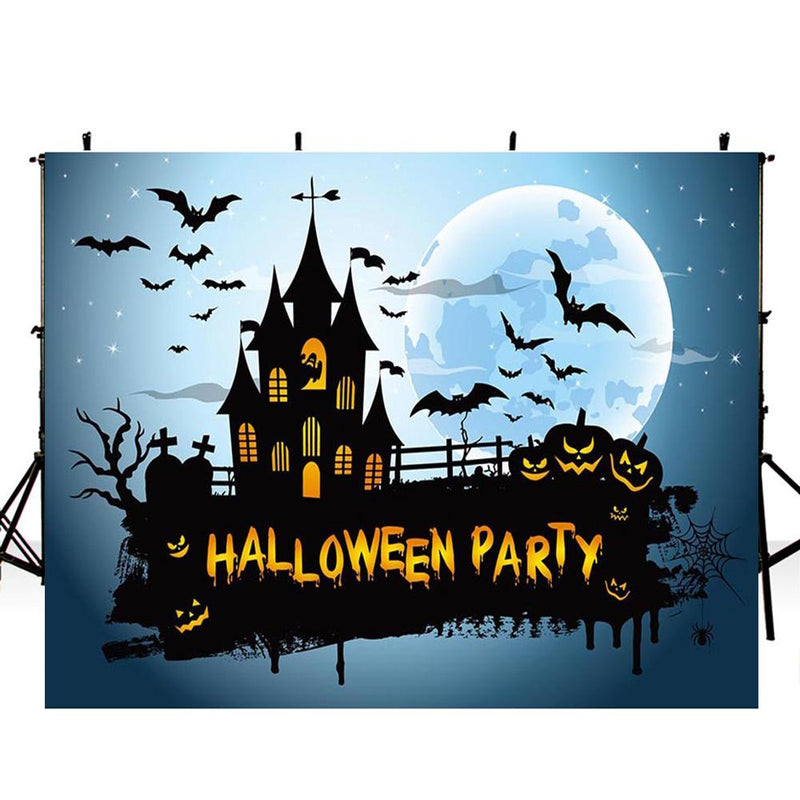 12ft halloween large banner photo booth backdrop for child backdrop for picture Pumpkin Lantern 110ft photography background for kids photo props