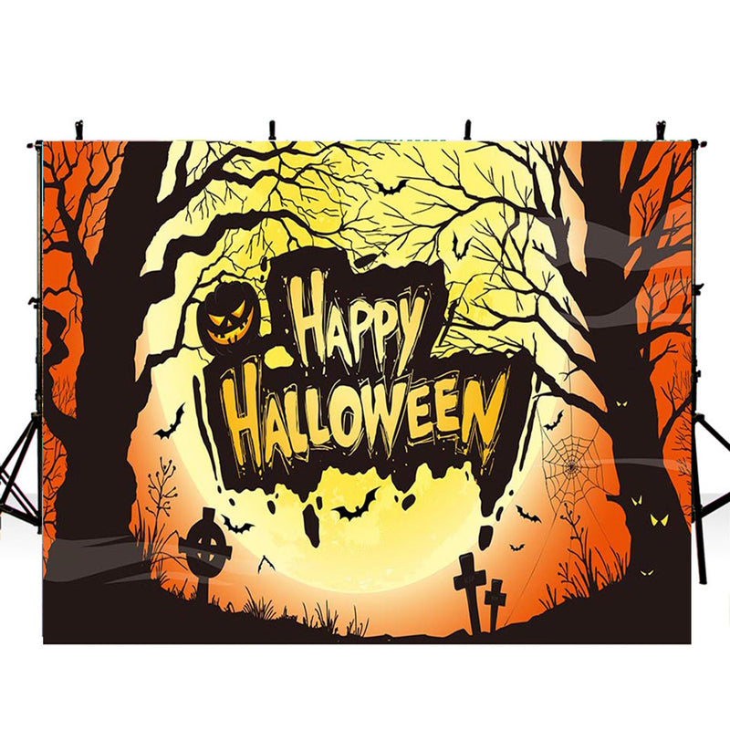 halloween party photo booth backdrop banner backdrop for picture Pumpkin Lantern photography background ghost photo props for kids