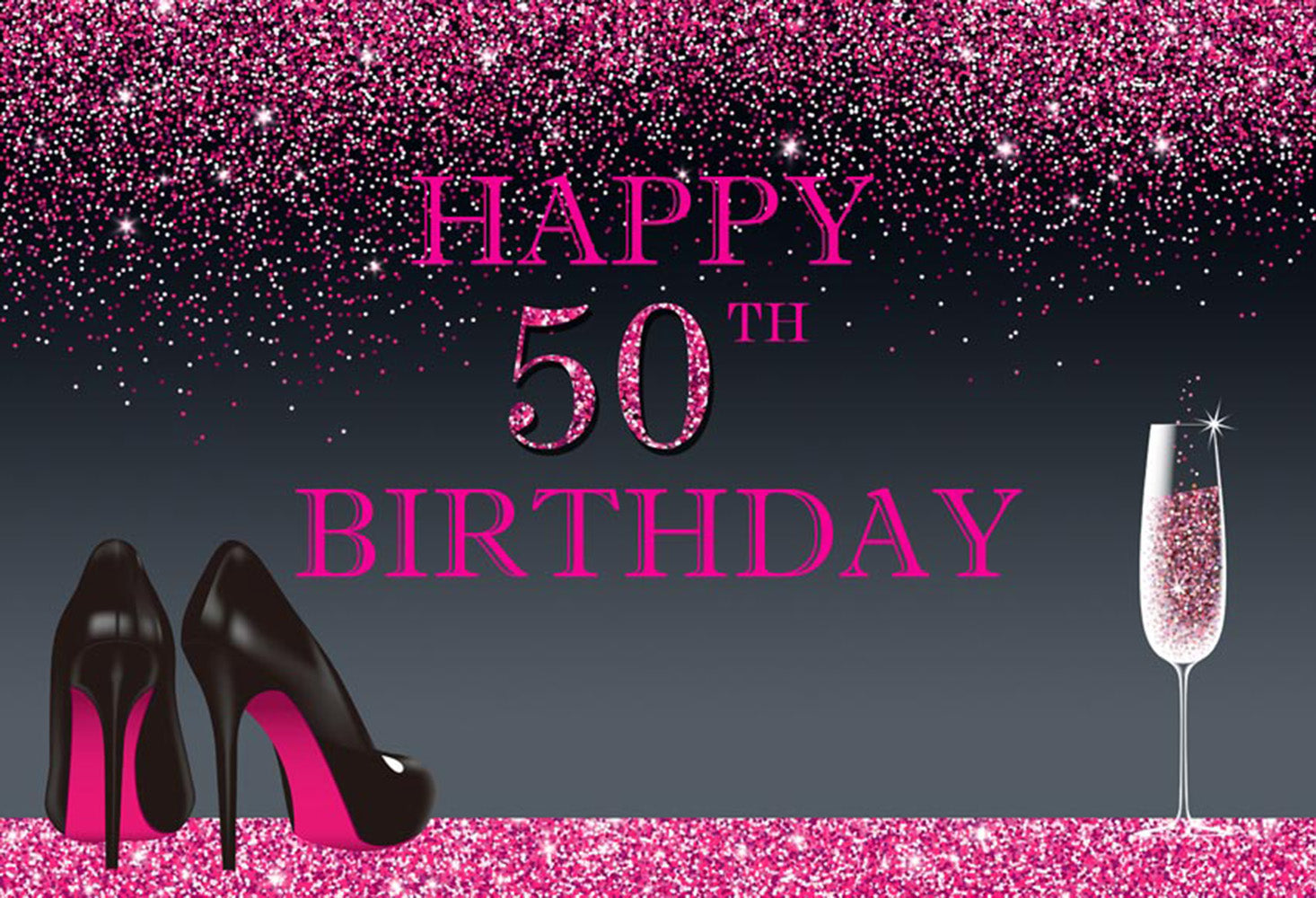 50th Birthday Party Photography Backdrops Thin Vinyl For Backdrop Happy Digital Printed Photo Backgrounds
