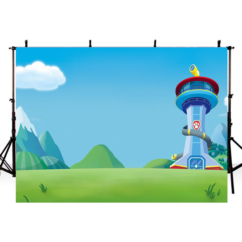 Birthday Party Photography Backdrops Paw Patrol Birthday Backdrop For photo studio paw patrol backgrounds vinyl photography backdrops