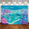 Aquarium Photography Under Sea Castle Backdrop Ocean Bubble Birthday Party Photo Studio Booth Background Polyester Fabric