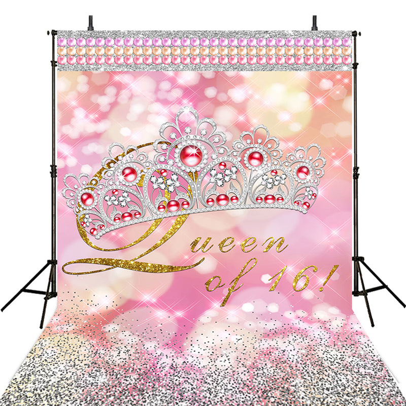 Pink 16th Birthday Party Photography Backdrops Thin Vinyl Photography For Backdrop Happy Birthday Digital Printed Photo Backgrounds For Photo Studio