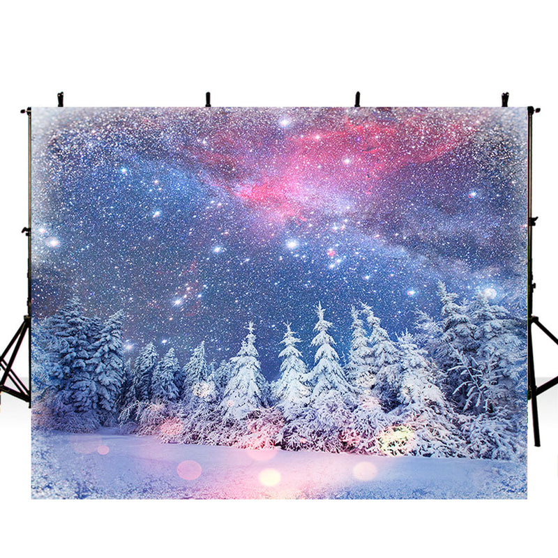 Snow backdrop glitter parties 6x8ft backdrop enchanted forest backdrop 7x5 purple outer space photography backdrop vinyl northern lights photo booth backdrop snow winter wonderland