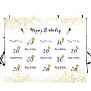 customized Happy birthday photo backdrops 30th birthday photo booth props for woman birthday photo backdrop black and gold background for photo happy birthday 30th