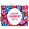 customized Happy birthday photo backdrops 30th birthday photo booth props for woman birthday photo backdrop flowers background for photo happy birthday 30th