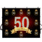 customized Happy birthday photo backdrops 50th birthday photo booth props for woman birthday photo backdrop black and gold background for photo happy birthday 50th
