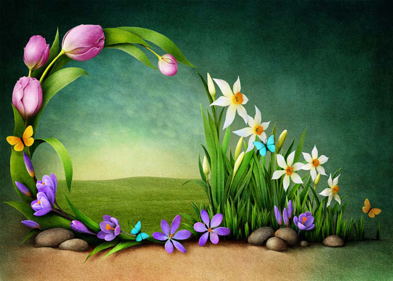 happy easter photo backdrops flower spring photography vinyl backdrops easter eggs for baby shower easter themed photo background