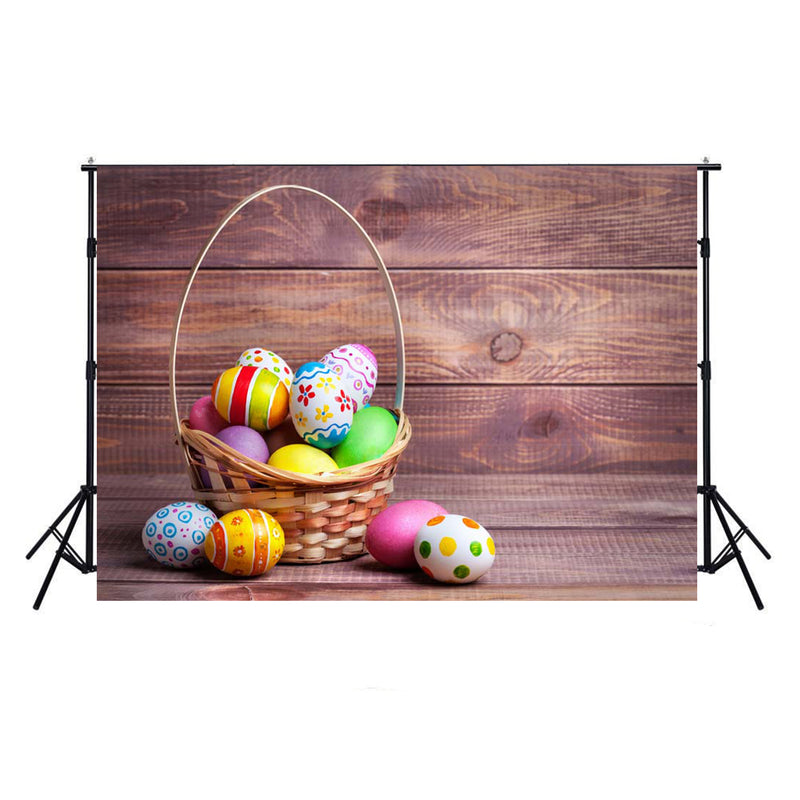 happy easter photo backdrops 10x8 wood floor photography vinyl backdrops easter eggs for kids easter themed photo background basket easter grass photo booth props easter religious photo booth backdrop