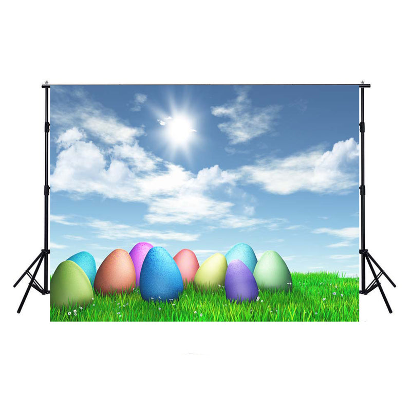happy easter photo backdrops spring photography vinyl backdrops easter eggs for girls 7x5ft colorful eggs backdrops sky easter themed photo background easter religious photo booth backdrop easter church photo booth props