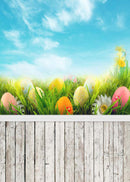 happy easter photo backdrops brown wood photography vinyl backdrops easter eggs for baby shower 12x8 easter themed photo background