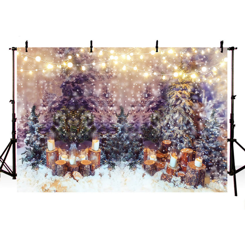 Glitter Christmas Bokeh Adult Portrait Photo Background Pine Christmas Tree Newborn Baby Photo Booth Backdrop Glitter Light