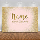 Glitter Pink birthday party decoration for photography Customize background for photocall boda wedding bridal Shower Backdrop