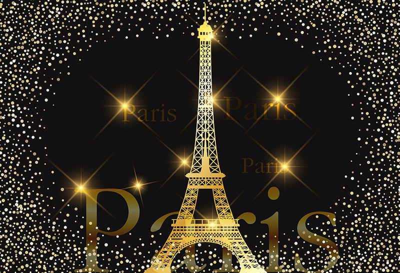 Glittering Paris Eiffel Tower Theme Photography Backdrop Wedding birthday Customized Photographic Backdrops For Photo Studio