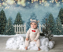 3 Style Christmas Toy Store Photography Backdrops Winter Snow Pine Bokeh Photocall Background Photo Studio Snowman Decoration