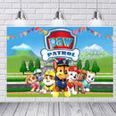 Customize Paw Patrol Birthday Party Photography Backdrops Chase Zuma Party Banner Backdrop For Photography Background For Photo Studio