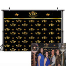 Royal Crown Black Hollywood Vip Banner Backdrop Birthday Adults Children Party Wedding Custom Luxury Background Photo Studio
