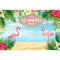 Happy Birthday Flamingle Flamingo Hawaiian Birthday Party Banner Backdrop Tropical Beach or Aloha Party Dessert Table Backdrops