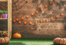 Happy Halloween Photography Backdrop Pumpkin Lanterns Wood Kids Children Party Photo Studio Backdrop Photo Prop