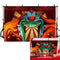 Horror Circus Theme Halloween Backdrop for Photography Giant Evil Clown Hallomas Birthday Party Background Scary Grove Vampire Baby Cake Table Decor Banner