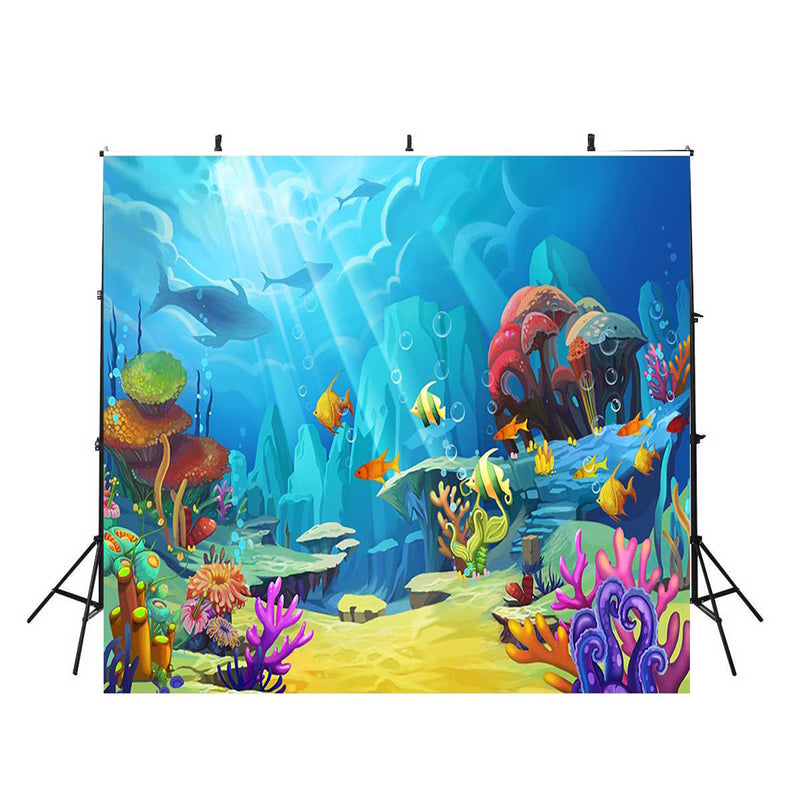 10x10ft underwater photo backdrop ocean fish photo booth props ocean scene photo backdrop aquarium background aquatic photography backdrops